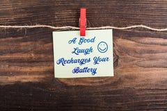 Un bon rire recharge votre batterie Photographie stock libre de droits