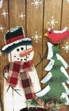 Un bonhomme de neige de vacances d'hiver Photographie stock libre de droits