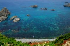 Un bord de la mer au Hokkaido, Japon Photo libre de droits