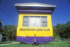Un bordo della strada del rimorchio di Lions Club in Bradenton, Florida Fotografia Stock
