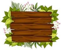 Un bordo di legno naturale illustrazione di stock