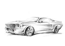 Un bosquejo de un coche ilustración del vector