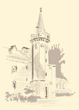 Un bosquejo de una casa stock de ilustración