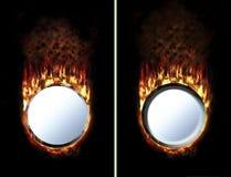 Un botón más caliente del fuego Foto de archivo libre de regalías