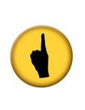 Un botón minucioso del icono Foto de archivo