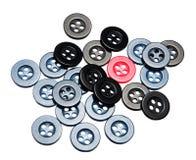 Un botón rojo - único Fotos de archivo libres de regalías