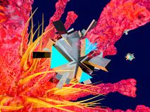 Un Bot nano que ataca un virus libre illustration
