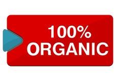 un bottone organico di 100 percentuali Fotografie Stock Libere da Diritti