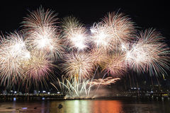 Un bouquet des feux d'artifice Image libre de droits
