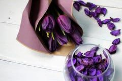 Un bouquet des tulipes Photographie stock