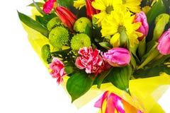 Un bouquet des tulipes et des chrysanthèmes Photos libres de droits