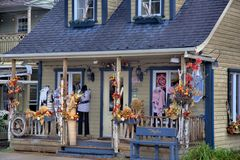 Un boutique in Saint Sauveur Fotografia Stock Libera da Diritti