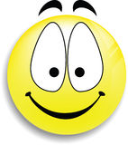 Un bouton souriant heureux de visage Photo libre de droits
