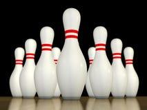 Un bowling dei dieci perni Fotografie Stock