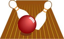 Un bowling di dieci Pin Fotografie Stock Libere da Diritti