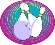 Un bowling di dieci Pin illustrazione di stock