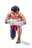 Un boxeador tailandés Fotos de archivo libres de regalías