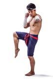 Un boxeador tailandés Fotos de archivo