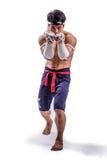 Un boxeador tailandés Fotografía de archivo