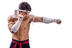 Un boxeador tailandés Fotografía de archivo libre de regalías