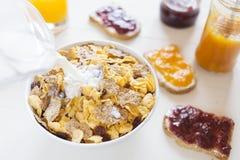 Un breakfask delicioso por la mañana Imagen de archivo