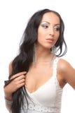Un brunette hermoso Fotos de archivo