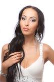 Un brunette hermoso Imagen de archivo libre de regalías