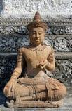Un Buda coronado decorativo único foto de archivo libre de regalías