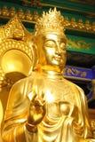 Un buddha de oro grande Fotos de archivo
