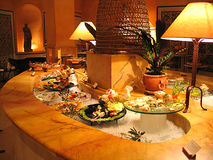 Un buffet dell'hotel Fotografia Stock