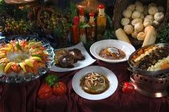 Un buffet sontuoso Fotografia Stock Libera da Diritti