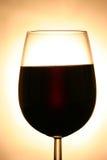 Un buon vetro di vino fotografie stock