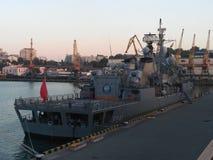 Un buque de guerra 1 Foto de archivo