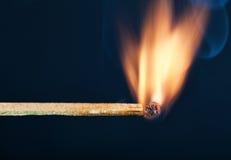 Un burning d'allumette Photo stock
