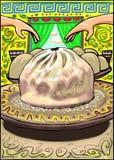 Un ` buryatian tradizionale di booza del ` dell'alimento royalty illustrazione gratis