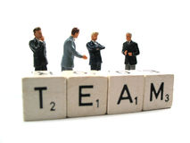 Un businessteam che tiene una riunione d'affari Fotografia Stock