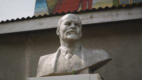 Un busto di Lenin video d archivio
