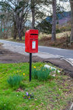 Un buzón en Escocia imagen de archivo libre de regalías