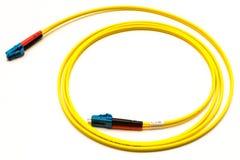 Un câble de fiberchannel Photographie stock libre de droits
