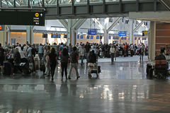 Un côté de l'aéroport international de Vancouver Photo stock