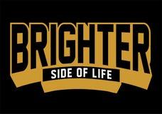 Un côté plus lumineux de la vie, image de vecteur Photo stock