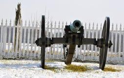 Un cañón de la guerra civil Fotos de archivo libres de regalías