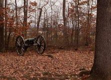 Un cañón de la guerra civil de Gettysburg, Pennsylvania Imágenes de archivo libres de regalías