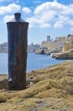 Un cañón, puerto de La Valeta, Malta Fotos de archivo
