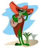 Un cactus en sombrero Imágenes de archivo libres de regalías