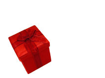 Un cadeau rouge Images stock