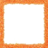 Un cadre carré fait de graines de lentille Image libre de droits