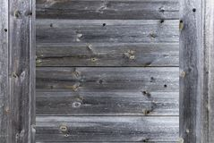 Un cadre d'un vieux plan rapproché en bois gris chevronné de barrière photo libre de droits