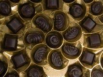 Un cadre de chocolats Photos stock