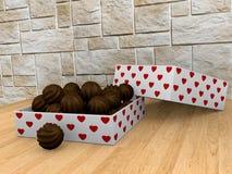 Un cadre de chocolats Image libre de droits